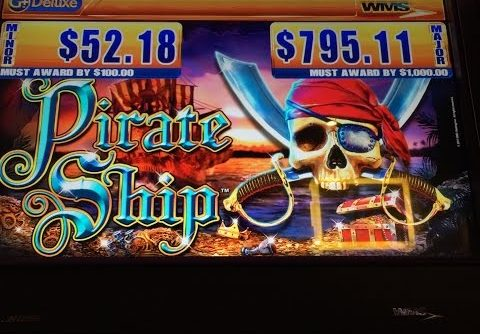 WMS Pirate Ship Slot Machine ** Line Hit **Bonus** Big Win $$$