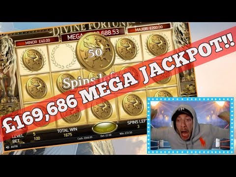 HOW IT FEELS WINNING A £169K JACKPOT SLOT LIVE!! DIVINE FORTUNE