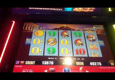 😎😎😎POMPEII SLOT MACHINE BIG WIN 3 RETRIGGERS WOW Miami valley CASINO  😎😎😎