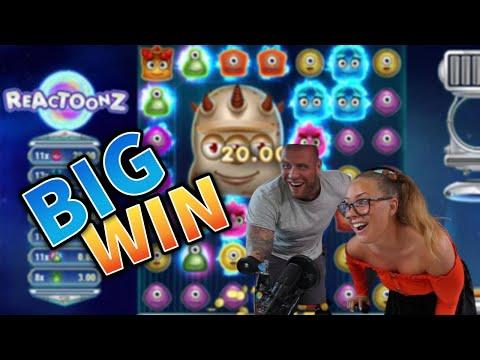 BIG WIN!!! Reactoonz Mega Win!! Casino Games from MrGambleSlot Live Stream