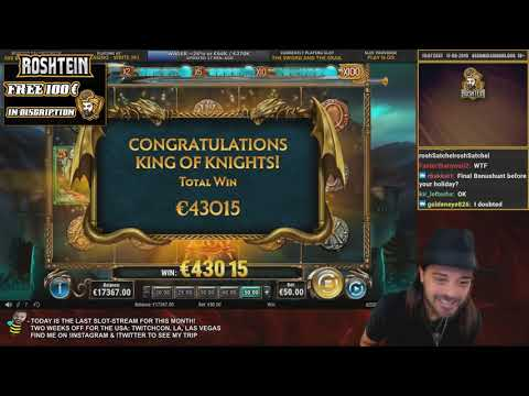 ROSHTEIN WIN 45 000 € The Sword and Grail AND 90.000 BONUS HUNT WIN