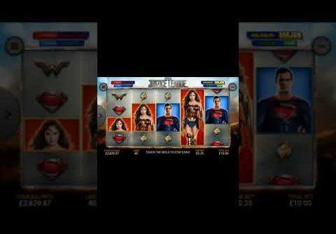 Mega win justice league slot £10 bet