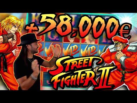 ROSHTEIN VS BISON +58.000€ BIG WIN IN STREET FIGHTER II SLOT  Top 5 Wins of Week
