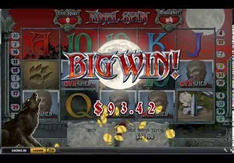Full Moon Fortunes Slot Bonus Round Bet $4.00 Big Win real money