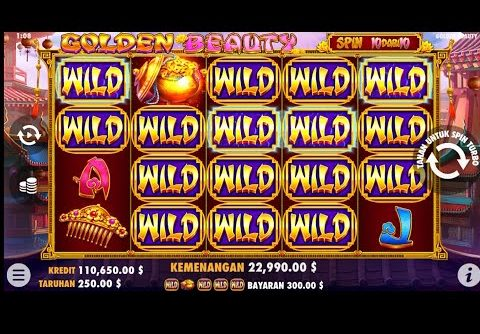 Slot golden beauty, pragmatic play, bonus free spin, Mega win, sensational