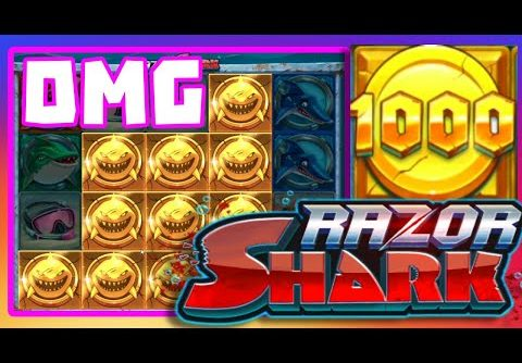 RAZOR SHARK💧 SLOT BONUS HUNT BIG WIN NON STOP BONUS AND GOLDEN COINS!!!😵