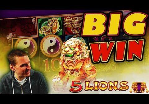 BIG WIN on 5 Lions Slot – £2.50 Bet