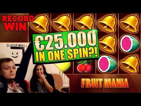 HUGE ULTRA MEGA WIN ON FRUIT MANIA 50€ SPIN!