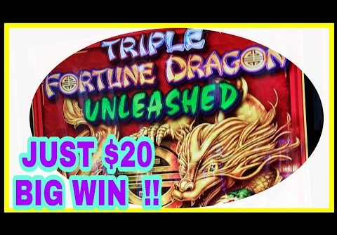 JUST $20!! triple fortune dragon!!!BIG WIN!! I get a bonus, I must ticket out.!!!!