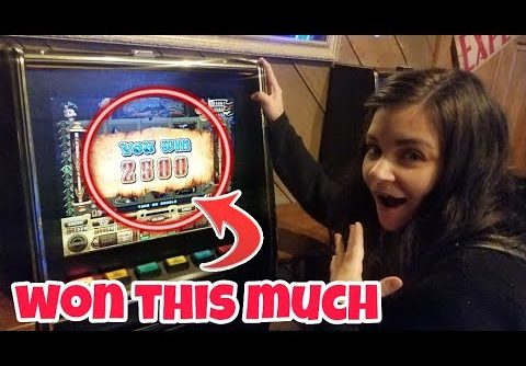 OUR BIGGEST SLOT MACHINE WIN EVER! (WE WERE SHOCKED)