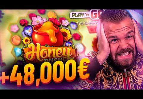 Streamer Super win 48.000€ on Honey Rush slot – Top 10 Biggest Wins of week #4