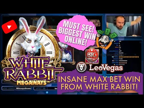 RECORD WIN!! INSANE MAX BET WIN FROM WHITE RABBIT SLOT! MUST SEE! MY BIGGEST WIN ONLINE!