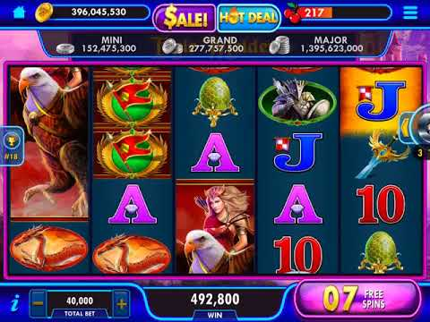 "EAGLE MAIDEN Video Slot Casino Game with a ""MEGA WIN"" FREE SPIN BONUS"