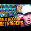 Bidule Record win 10 RETRIGGERS on  Rise of Merlin slot – TOP 5 mega wins in casino online