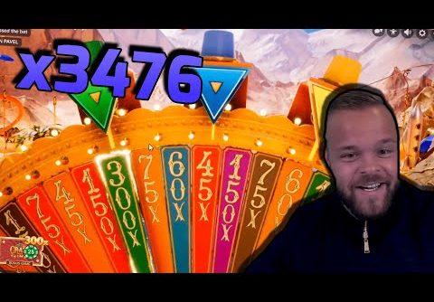 Mega WIN x3476 on CRAZY TIME  – Casino Slots Big Wins