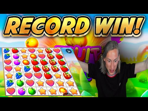 RECORD WIN!! Fruit Party BIG WIN from base game – Online Slots from Casinodaddys live stream