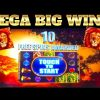MEGA WIN BONUS!!! LIONS!!! KING OF AFRICA SLOT MACHINE!!!