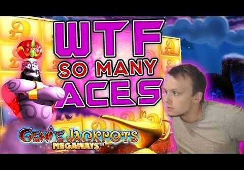 HUGE MEGA WIN on Genie Jackpots Megaways!