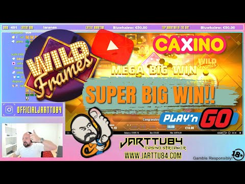Super Big Win From Wild Frames Slot!!