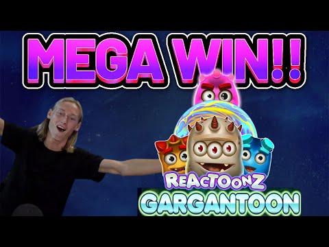 MEGA WIN!! REACTOONZ BIG WIN –  Online Slots from Casinodaddy LIVE STREAM