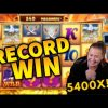 RECORD WIN!!! Genie Jackpots Mega Win!! Casino Games from MrGambleSlot Live Stream