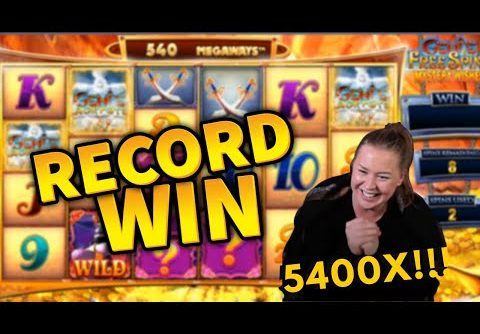 RECORD WIN!!! Genie Jackpots Mega Win!! Casino Games from MrGambleSlot Live Stream