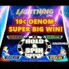 10¢ LIGHTNING LINK – HIGH STAKES SLOT – **SUPER BIG HOLD AND SPIN WIN** – Slot Machine Bonus