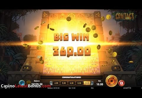 Contact (Play'n GO) Online Slot Review (RESPINS, BONUSES, BIGWIN, MEGAWIN, SUPERBIGWIN)