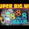 888 Blue Dragon * SUPER BIG WIN * RETRIGGER MADNESS * Slot Machine Bonus Free Games