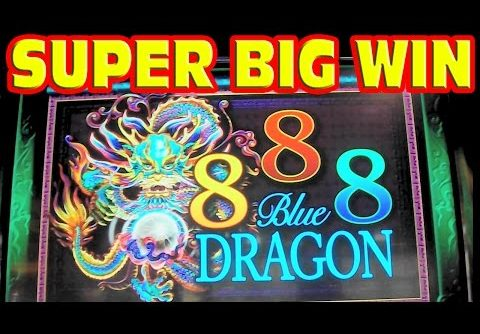 888 Blue Dragon * SUPER BIG WIN * RETRIGGER MADNESS * Slot Machine Bonus Free Games