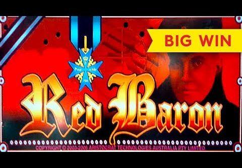 AWESOME RETRIGGER! Red Baron Slot – BIG WIN BONUS!