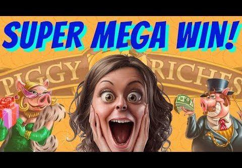 Super Mega Big Slot Win – Piggy Riches – 6€/spin