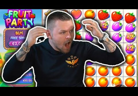 RECORD WIN on FRUIT PARTY – THE LUCKIEST WIN YOU WILL EVER SEE!
