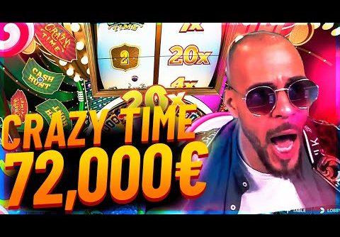 Streamer Mega win 72.000€ on Crazy Time slot – Top 10 Biggest Wins of week #4