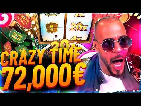 Streamer Mega win 72.000€ on Crazy Time slot – Top 10 Biggest Wins of week #4