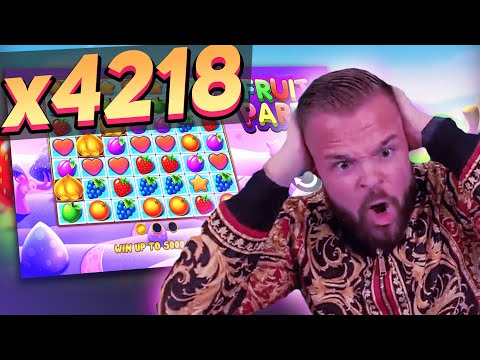 Streamer Huge win x4218 on FRUIT PARTY slot – TOP 5 Mega wins of the week