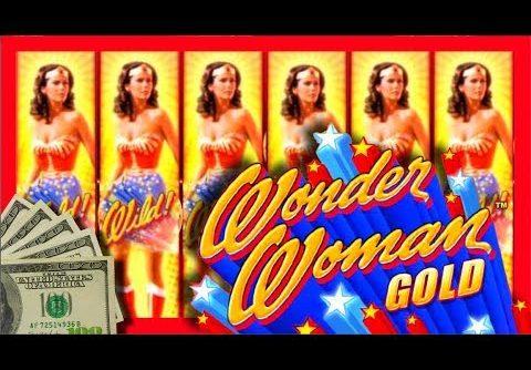 TONS of BIG WINS! LIVE PLAY & BONUSES on Wonder Woman Slot Machine W/ SDGuy1234