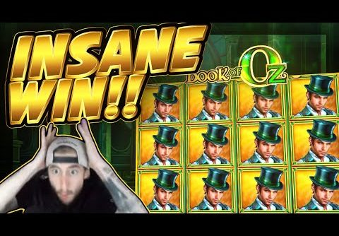 MEGA WIN!! Book Of Oz BIG WIN!! HUGE WIN from CasinoDaddy Live Stream
