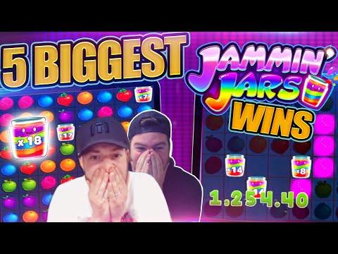FRUITY SLOTS TOP 5 JAMMIN JARS BIG WINS!!