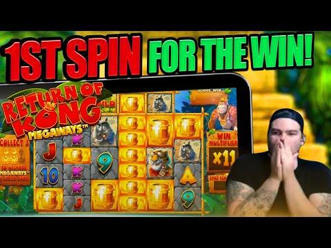 RETURN OF KONG 1ST SPIN FOR THE MEGA WIN!!