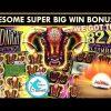 AWESOME BONUS! SUPER BIG WIN! Midnight Stampede Slot Machine –  Retriggers Galore!