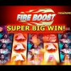 Fire Boost – *SUPER BIG WIN* – +RETRIGGER – Slot Machine Bonus