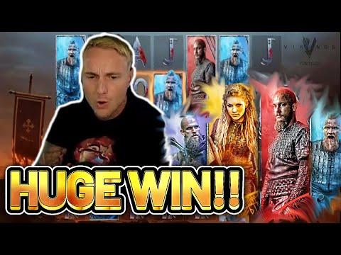 HUGE WIN! VIKINGS BIG WIN – €5 bet on Casino Slot from CASINODADDY