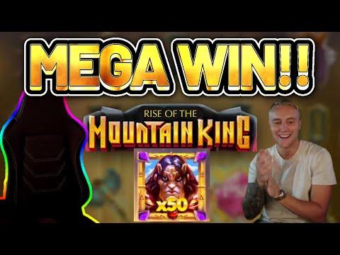 MEGA WIN! MOUNTAIN KING BIG WIN –  Casino Slots from Casinodaddy LIVE STREAM