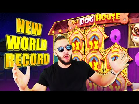 DeuceAce! New World Record 129,122 € in The Dog House slot! 5 Biggest Online Slots Wins!