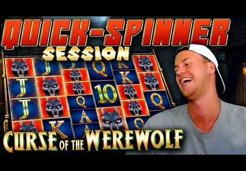 Big Wins during Curse of the Werewolf Megaways Session! (New Slot)