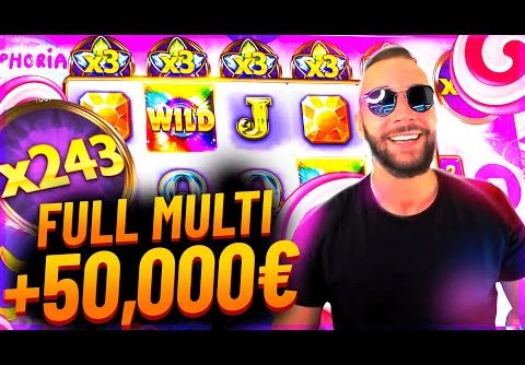 Streamer Super win +50 000€ on Euphoria slot – TOP 5 Mega wins of the week