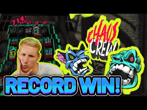 HUGE WIN! CHAOS CREW BIG WIN – CASINO Slot from CasinoDaddys LIVE STREAM