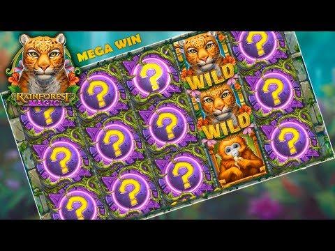 MEGA WIN ON RAINFOREST MAGIC (4 Mystery Reels – Play'n GO)