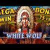 White Wolf mega win bonus 75 free spins 390X. EGT online slot